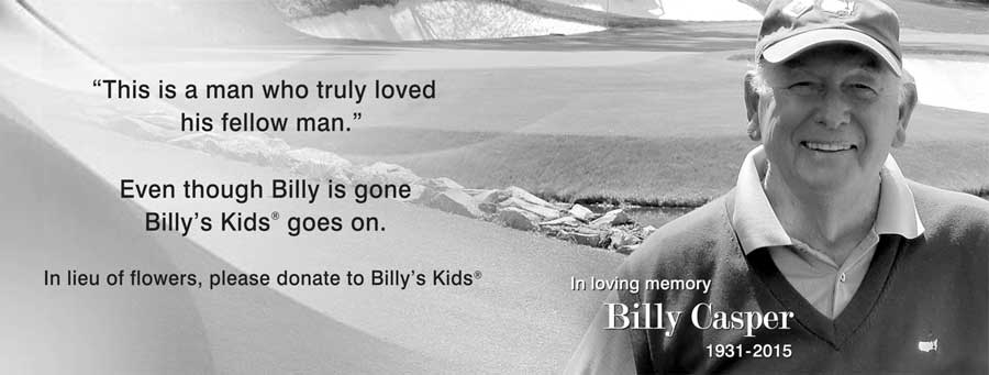 In loving memory of Billy Casper